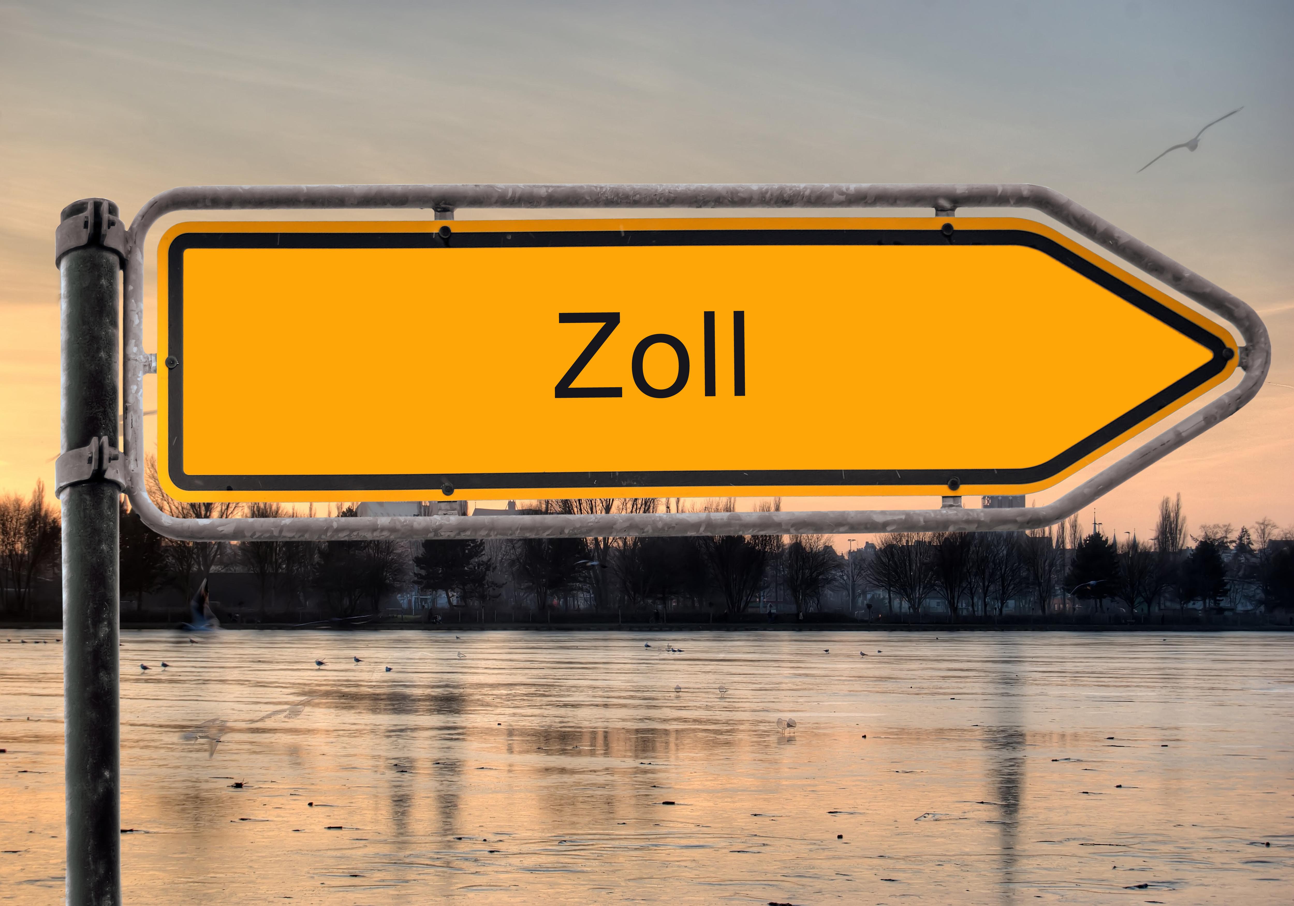Strassenschild 9 – Zoll